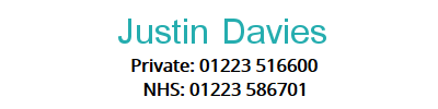 Justin Davies Colorecta surgeon in Cambridge UK